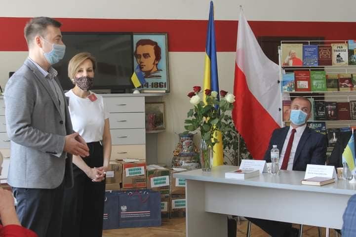 Благотворительная акция по вручению книжек, подаренных польскими библиотеками